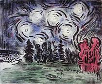 Autumn Wind and Stars - Karl Schrag