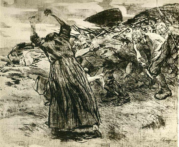 Outbreak, 1908 - Kathe Kollwitz