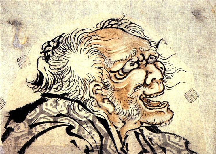 Head of an old man - Кацусика Хокусай