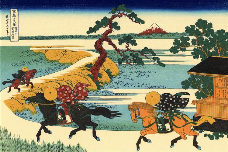 The Fields of Sekiya by the Sumida River, 1823 - 1831 - Katsushika Hokusai