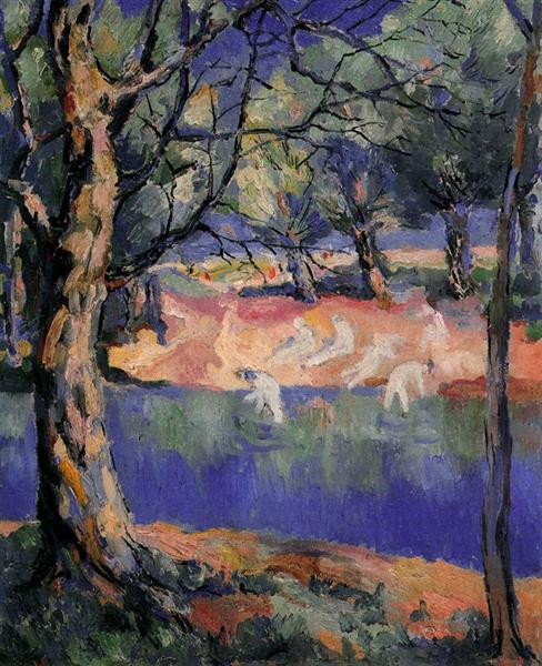 River in Forest - Kazimir Malevich