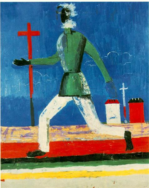 The Running Man - Kazimir Malevich