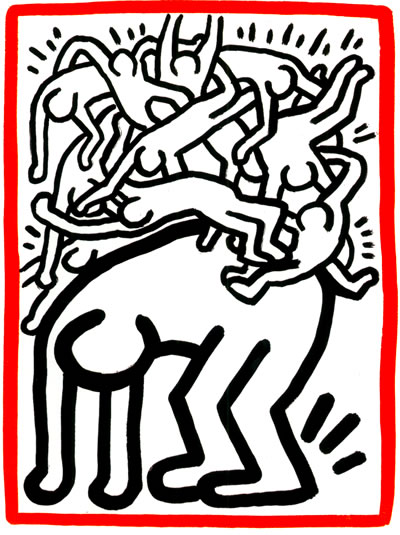 Fight Aids Worldwide, 1990 - Keith Haring