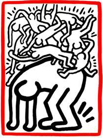 Aiuti alla lotta in tutto il mondo - Keith Haring