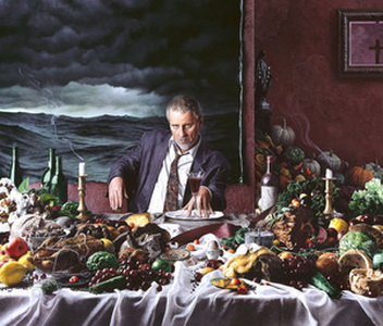 Self-Portrait with Wine Glass (Gluttony), 2000 - Kent Bellows