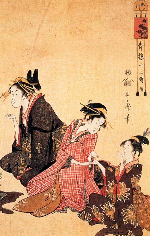 A Scene On The Bridge And Beld Kitagawa Utamaro