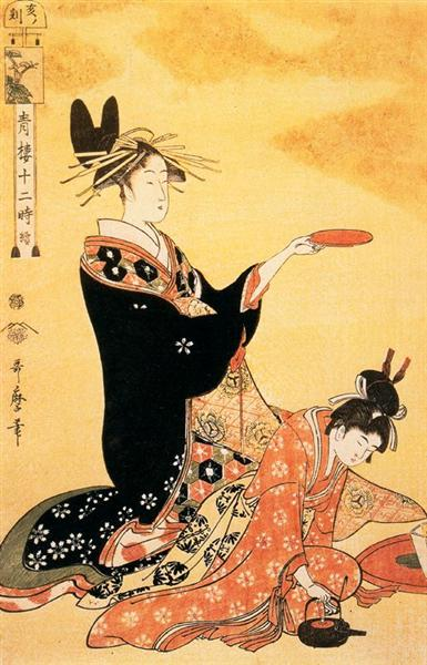 The Hour of the Boar - Kitagawa Utamaro