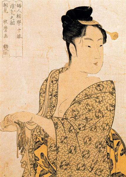 The Hour of the Cock - Kitagawa Utamaro