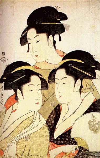 Three Beauties of the Present Day - Kitagawa Utamaro