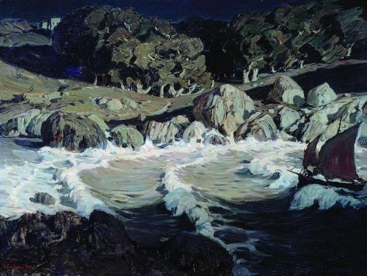 Ночь у моря, 1903 - Константин Богаевский
