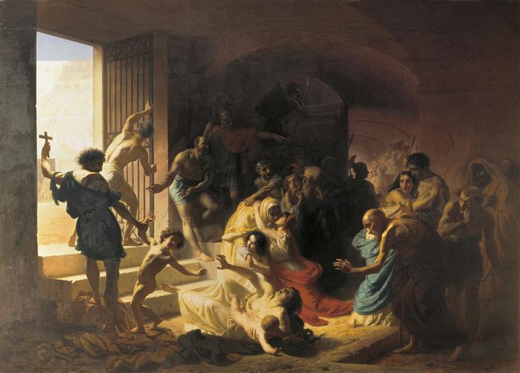 Christian martyrs in the Colosseum, 1862 - Konstantin Dmitriyevich Flavitsky