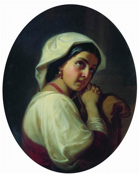 Italian Girl - Konstantin Dmitriyevich Flavitsky