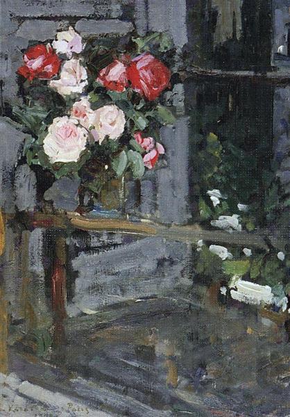 Roses.Evening, 1908 - Konstantin Korovin
