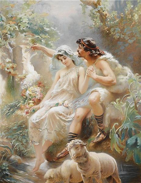 Allegorical Scene - Konstantin Makovsky