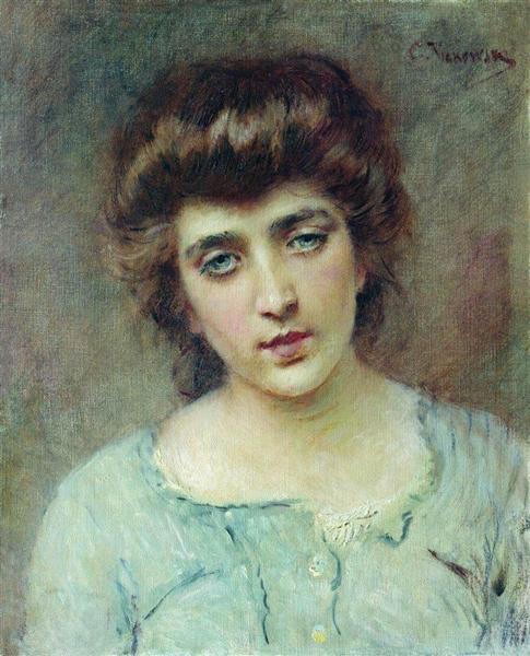 Female Portrait - Konstantín Makovski