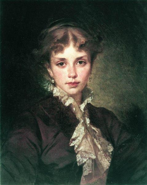 Female Portrait, 1878 - Konstantin Makovsky