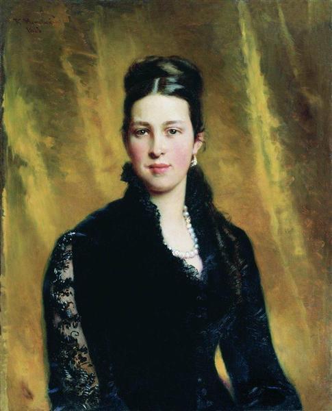 Female Portrait, 1883 - Konstantin Makovsky