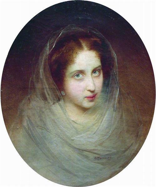 Female Portrait, c.1860 - Konstantin Makovsky