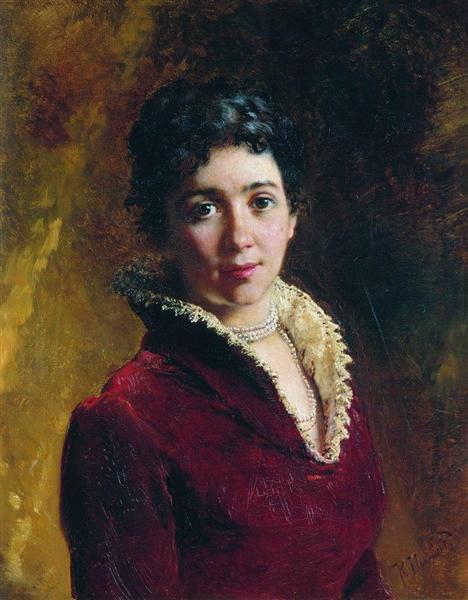 Female Portrait, c.1880 - Костянтин Маковський