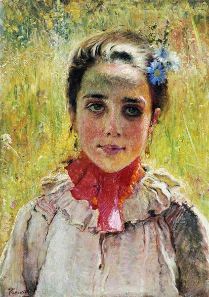 Girl in the Field, c.1900 - Konstantin Makovsky
