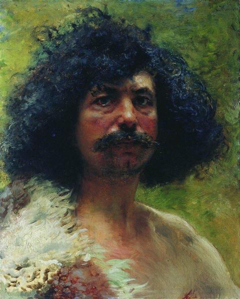 Man Head, 1897 - Konstantin Makovsky