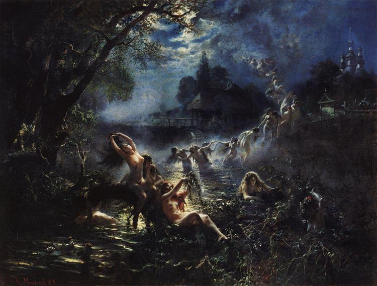 Mermaids, 1879 - Konstantín Makovski