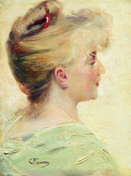 Portrait of the Young Lady, c.1890 - Konstantin Makovsky