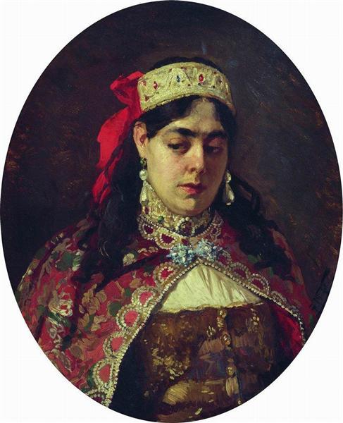 Portrait of Tsarevna Sofia - Konstantin Makovsky