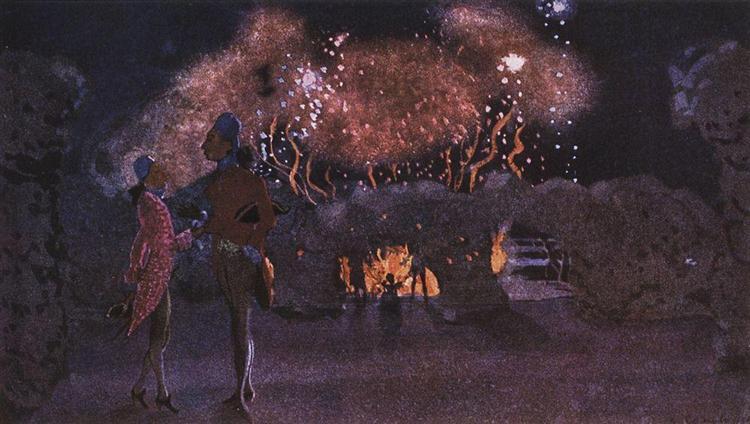 Fogos de Artifício, 1906 - Konstantin Somov