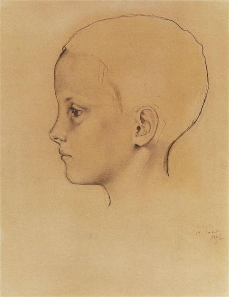 Girl Olia 1, 1896 - Konstantin Somov