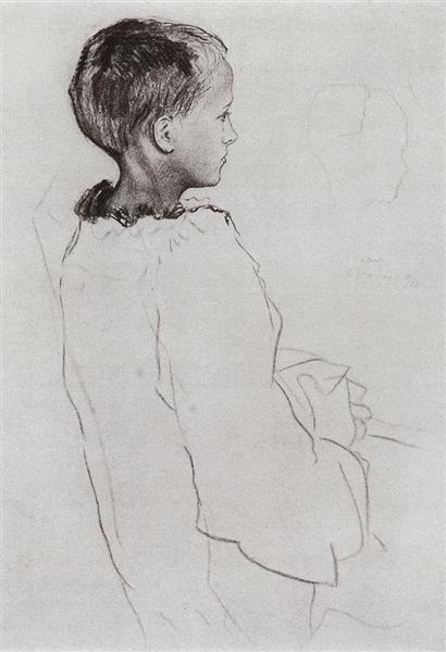 Girl Olia 2, 1896 - Konstantin Somov