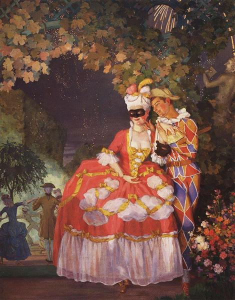 Lady and Harlequin, 1921 - Konstantin Somov