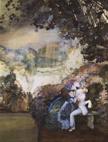 Lady and Pierrot - Konstantin Somov