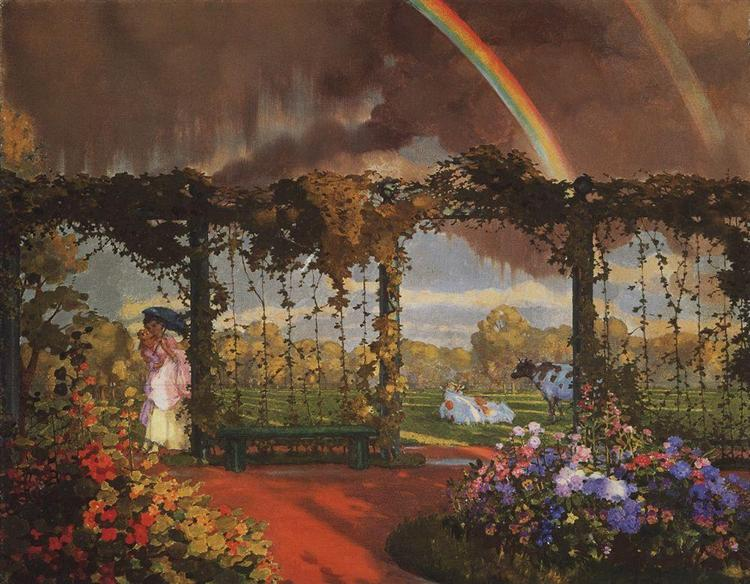 Landscape with a Rainbow, 1915 - Constantin Somov