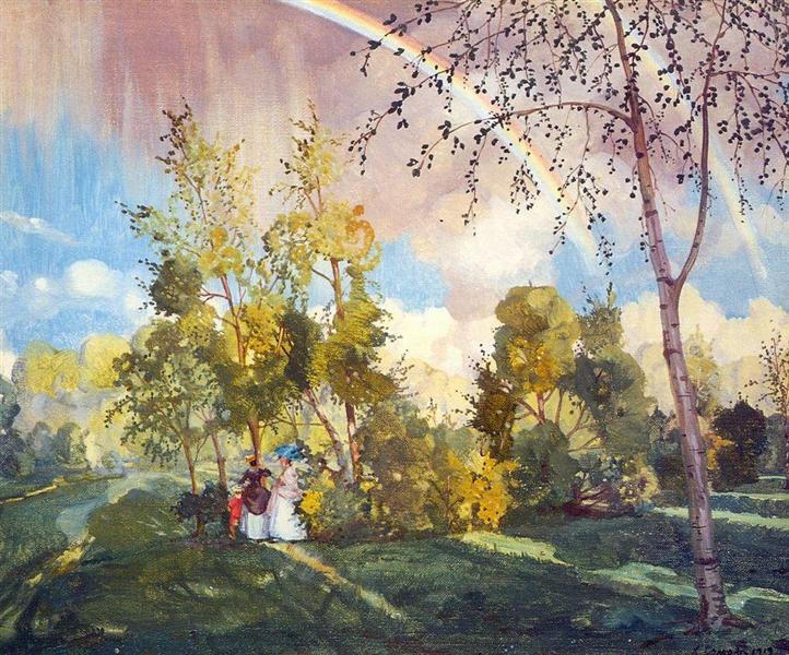 Landscape with a Rainbow, 1919 - Konstantin Somov