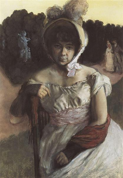 Portrait of A. Benois, 1896 - Konstantin Andrejewitsch Somow
