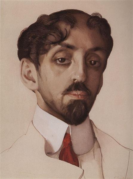 Portrait of M. Kuzmin, 1909 - Konstantin Somov