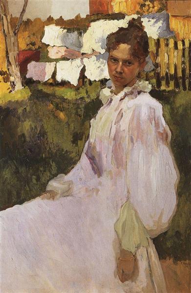 Portrait of Mrs N.F. Ober, 1896 - Konstantin Somov