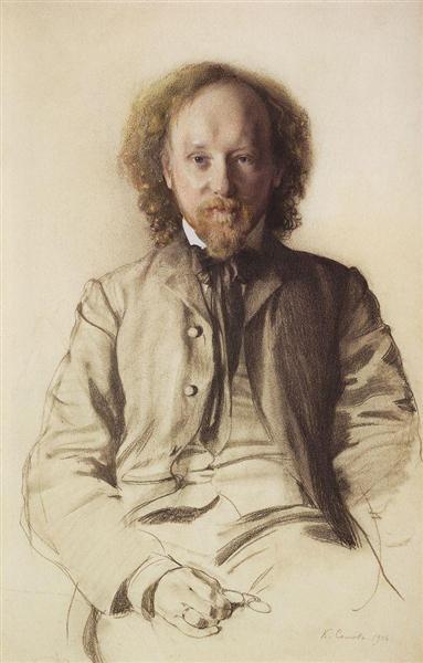 Portrait of V. Ivanov, 1906 - Konstantin Somov
