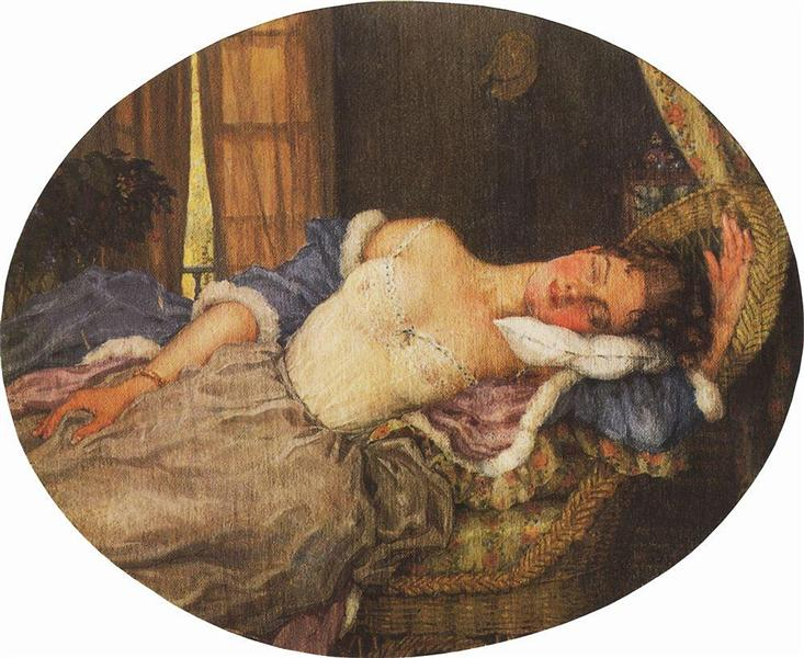 Sleeping Young Woman, 1922 - Konstantin Somov