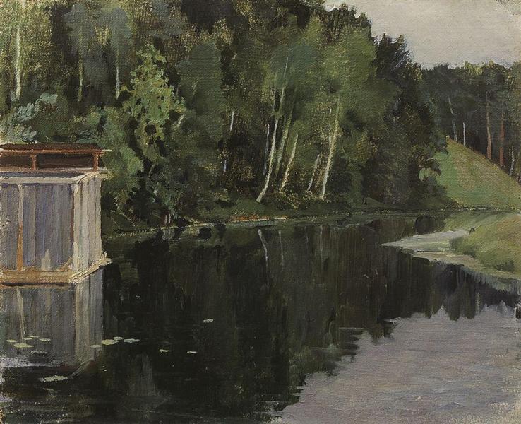 Summer Twilight. Pond, 1897 - Konstantin Somov