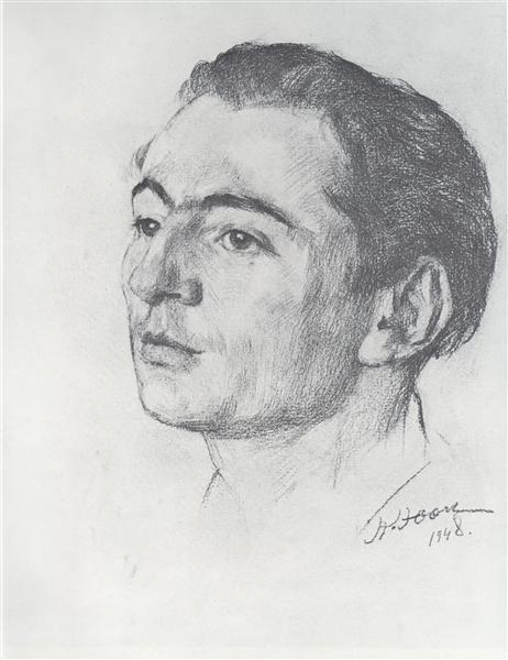 Portrait of E.V. Braginsky, 1948 - Konstantin Yuon