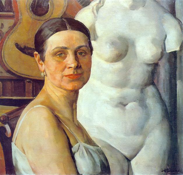 Portrait of K.A. Yuon, artist's wife, 1924 - Konstantin Yuon