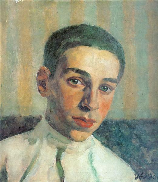 Portrait of Oleg Yuon, the artist's grandson, 1929 - Konstantin Yuon