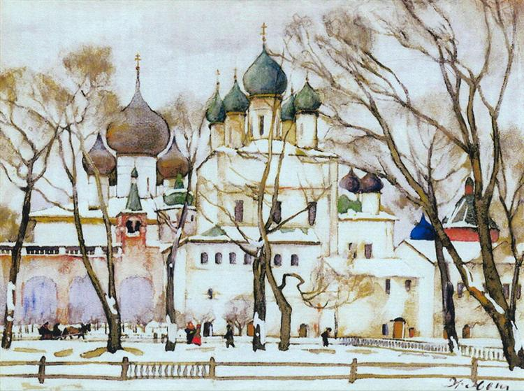 The cathederal in Rostov The Great, 1906 - Konstantin Yuon