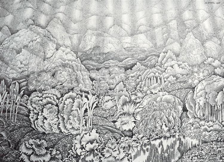 The kingdom of vegetation, 1908 - Konstantin Yuon