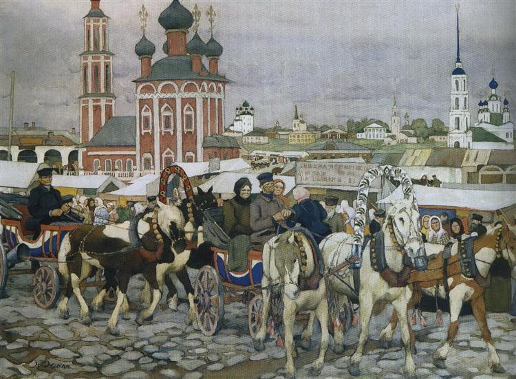 Triple in Uglich, 1913 - Костянтин Юон