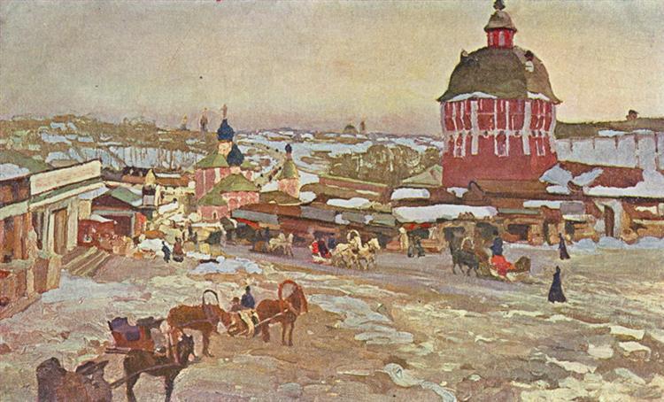 Zagorsk. Market Square - Konstantin Yuon