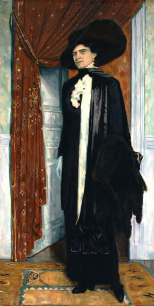 Portrait of  Julia Parthenis, c.1911 - c.1914 - Konstantinos Parthenis