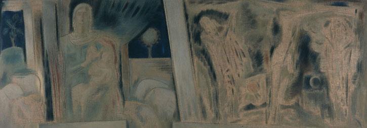 Virgin with Divine Infant - Crucifixion, 1940 - 1942 - Konstantinos Parthenis
